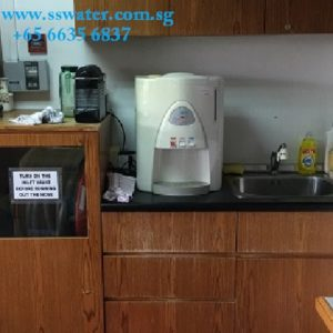 Direct pipe in table top water dispenser (34)