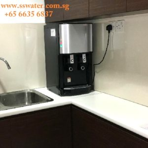 Direct pipe in table top water dispenser (53)