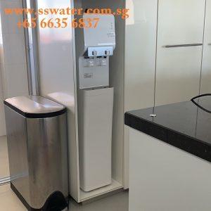 Floor standing direct pipe in water dispe