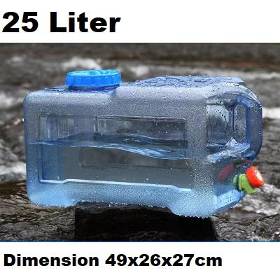 25L Water Bucket Storage Barrel Container / Car Load Water Storage